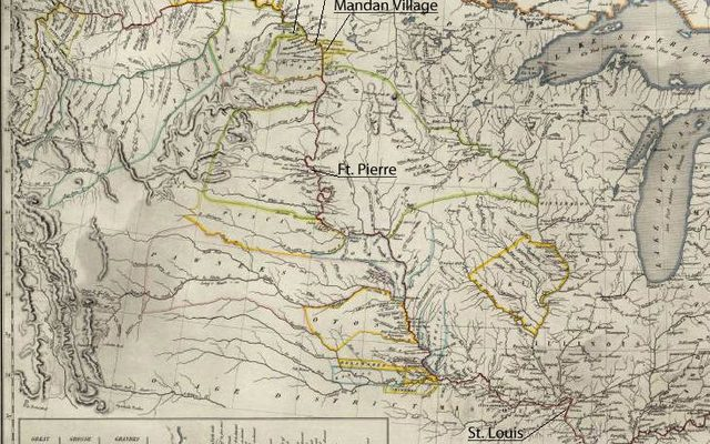 Map of the journey of Karl Bodmer and Prince Maximilian.