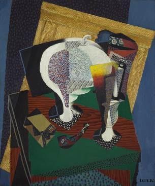 Diego Rivera, Le sucrier et les bougies (Sugar Bowl and Candles)