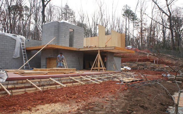 House being constructed