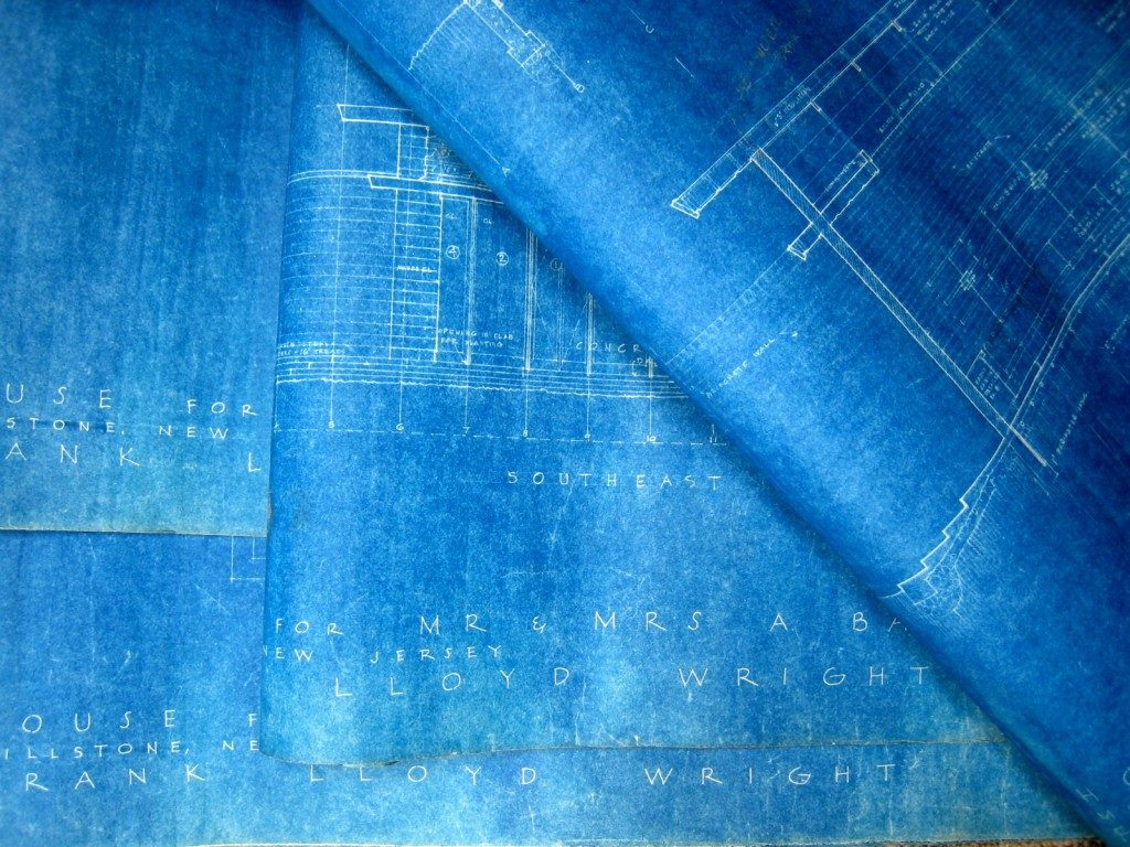 Blueprints for the Bachman-Wilson House