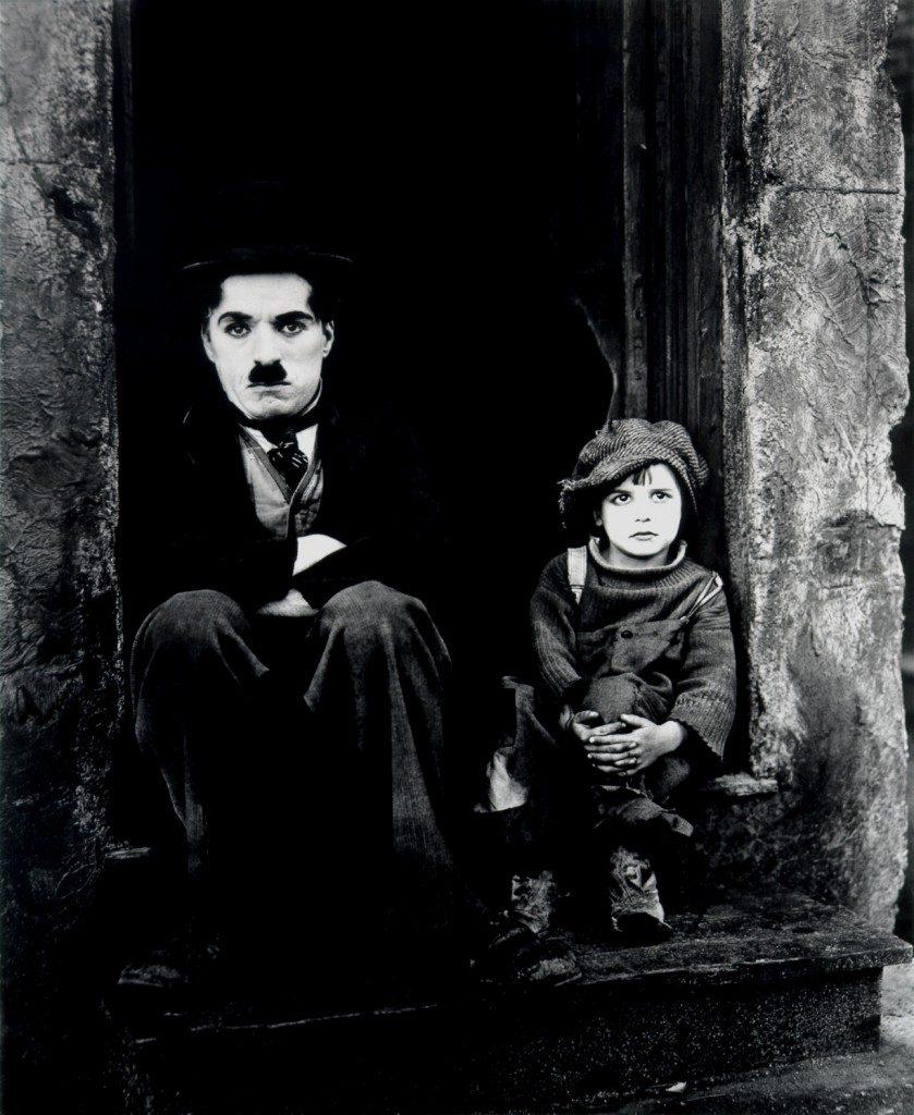 "Charlie Chaplin in ""The Kid."""