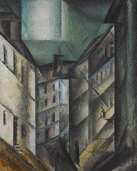 "Lyonel Feininger (1871-1956) ""Schlossgasse"" 1915 Oil on canvas"
