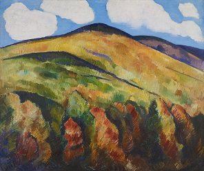 """Marsden Hartley (1877-1943) """"Mountains No. 22"""" 1930 Oil on canvas"""