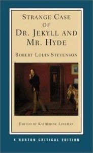 The cover of the Norton Critical edition of Stephenson's Jekyl & Hyde, sporting