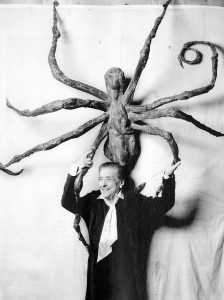Louise Bourgeois with Spider IV, 1996. Photo by Peter Bellamy.