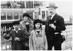 Louise Bourgeois with her brother, her father Louis, and Sadie