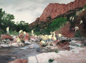"Cobi Moules Untitled (La Verkin Creek) oil on canvas 34""x46"" 2012"