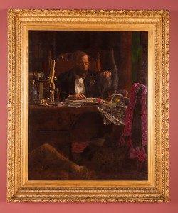 "Thomas Eakins ""Professor Benjamin Howard Rand,"" 1974 Oil on canvas In its original frame, after conservation."