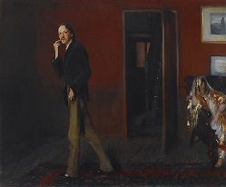 John Singer Sargent (1856-1925) Robert Louis Stevenson and His Wife 1885 Oil on canvas
