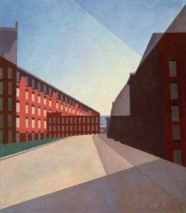 "Charles Sheeler (1883 – 1965) ""Amoskeag Mills #2,"" 1948 Oil on canvas"