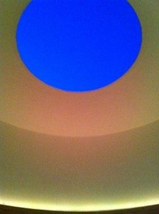"""A view from inside James Turrell's Skyspace, """"The Way of Color"""""""