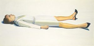 "Wayne Thiebaud b. 1920 ""Supine Woman,"" 1963 Oil on canvas"