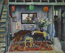 "Max Weber (1881-1961) ""My Studio in Paris"" 1907 Oil on canvas"