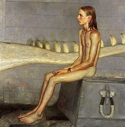 Jamie Wyeth (b. 1946)Orca Bates1990Oil on panel
