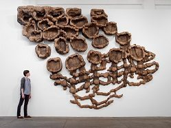 """Unraveling"" Ursula Von Rydingsvard 2007, cedar and graphite"