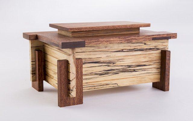 Frank Lloyd Wright-inspired box by Myron Wilson