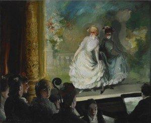 "Everett Shinn ""A French Music Hall,"" 1906 Oil on canvas"