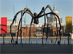 Louise Bourgeois Maman, 1999 Bronze, stainless steel, and marble 30ft. 5 in. × 29ft. 3 in. × 33ft. 7 in.