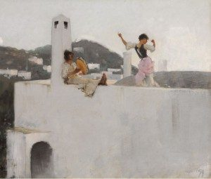 John Singer Sargent Capri Girl on a Rooftop, 1878 Oil on canvas 20 x 25 in.