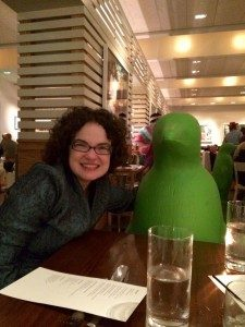 Amy Torbert and friend, taking a break from research at The Hive in 21c Musuem Hotel.