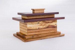 Frank Lloyd Wright-inspired box by Myron Williams. Photo by Dero Sanford.