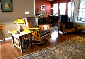 The home of Myron and Jan Williams is furnished with Myron's handcrafted furniture.