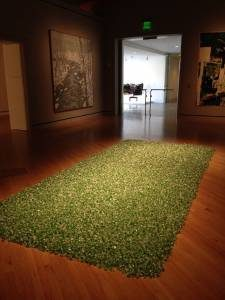 """Felix Gonzalez-Torres, 1957-1996 """"Untitled"""" (L.A.), 1991 Green candies individually wrapped in cellophane, endless supply © The Felix Gonzalez-Torres Foundation, courtesy Andrea Rosen Gallery, New York"""