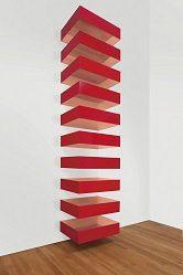 """Donald Judd, 1928-1994 """"Untitled, 1989 (Bernstein 89-24)"""" 1989 Copper and red Plexiglas"""