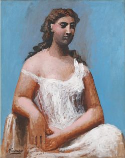 Pablo Picasso, Seated Woman in a Chemise