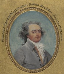 John Trumbull, Giuseppe Ceracchi, 1792. Oil on wood, 3 ⅞ x 3 in. Yale University Art Gallery.