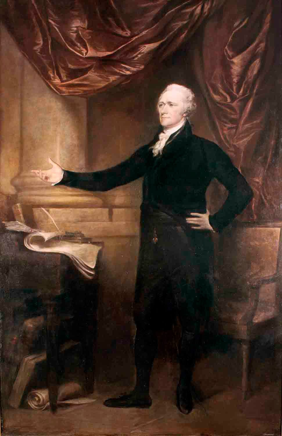 John Trumbull, Alexander Hamilton ], 1804–1805. Oil on canvas, 94 x 60 in. City Hall Portrait Collection, Collection of the City of New York.