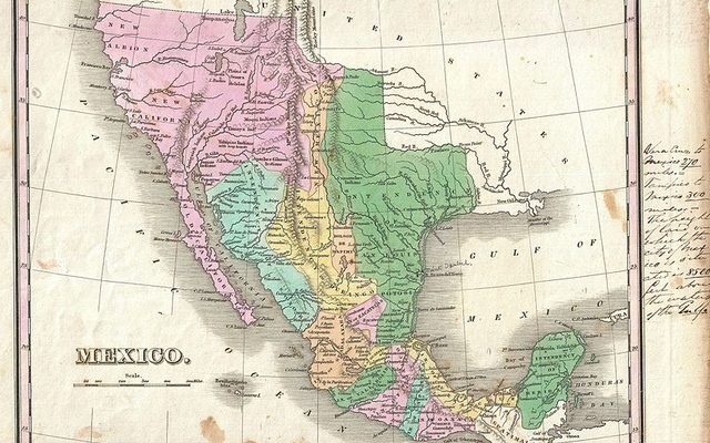 1827 map of Mexico, Upper California, and Texas