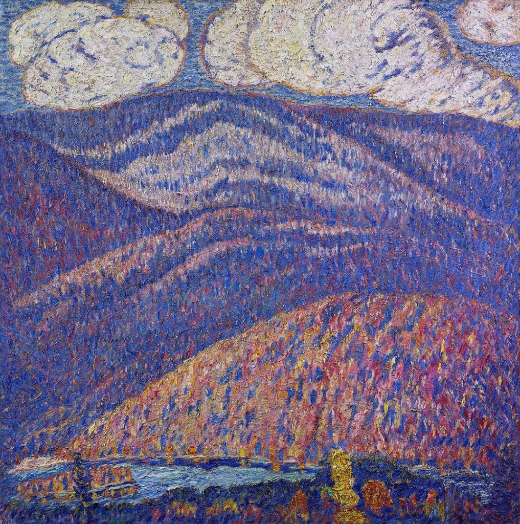 Marsden Hartley (1877 - 1943)<br />Hall of the Mountain King, ca. 1908-1909<br />Oil on canvas<br />Crystal Bridges Museum of American Art, Bentonville, Arkansas