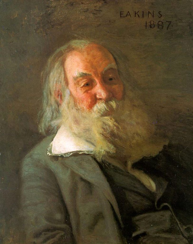 Walt Whitman, by Thomas Eakins, 1887. Pennsylvania Academy of the Fine Arts