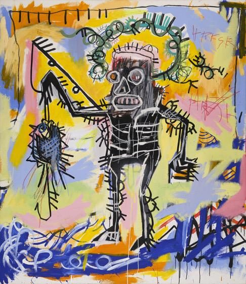 Jean-Michel Basquiat, 1960 - 1988<br />Untitled, 1981<br />Oil stick, acrylic, and spray enamel on canvas<br />Crystal Bridges Museum of American Art, Bentonville, Arkansas.