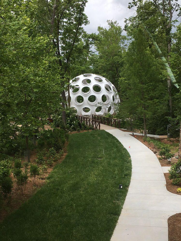 Buckminster Fuller's Fly's Eye Dome at Crystal Bridges Museum of American Art