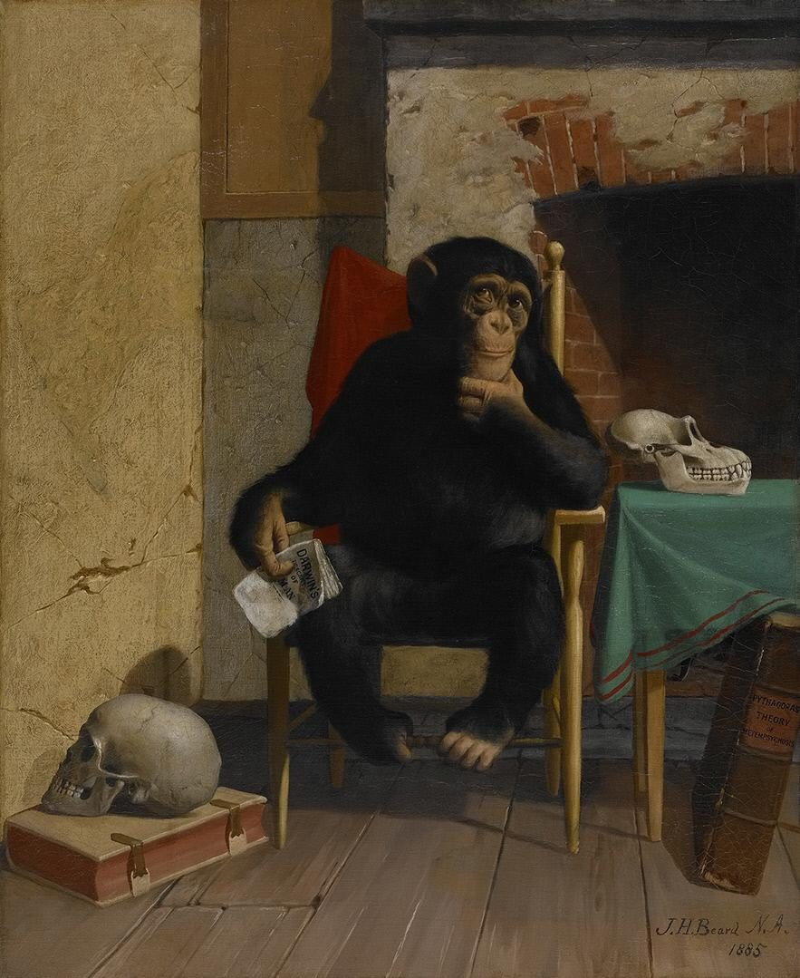 "James Henry Beard (1812-1893)<br />""It Is Very Queer, Isn't It?""<br />1885<br />Oil on canvas<br />Crystal Bridges Museum of American Art, Bentonville, Arkansas"