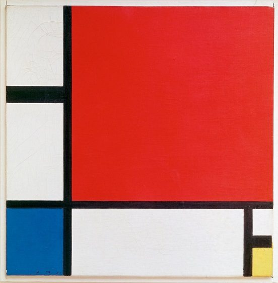 Piet Mondrian<br />Composition II in Red, Blue, and Yellow, 1930<br />Oil on canvas<br />Museum of Art (Kunsthaus Zurich)