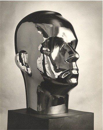 Isamu Noguchi, Portrait of Buckminster Fuller, 1929, Chrome plated bronze, Noguchi Museum, Long Island City, NY
