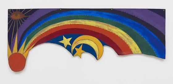 Betye Saar, born 1926 Rainbow Mojo, 1972 Acrylic on leather paul-michael diMeglio