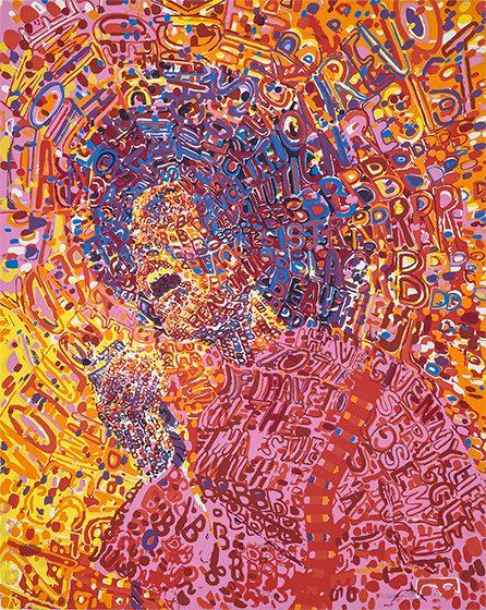 Wadsworth Jarrell, born 1929 Revolutionary, 1972 Screen print on paper Courtesy Lusenhop Fine Art