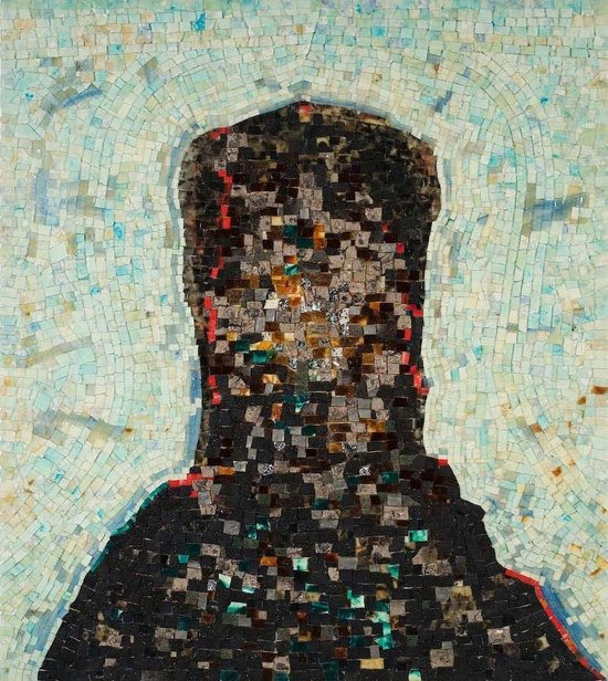 Jack Whitten, 1939-2018 Black Monolith, II: Homage To Ralph Ellison The Invisible Man, 1994 Acrylic and mixed media on canvas: molasses, copper, salt, coal ash, chocolate, onion, herbs, rust, eggshell, razor blade 58 x 52 in