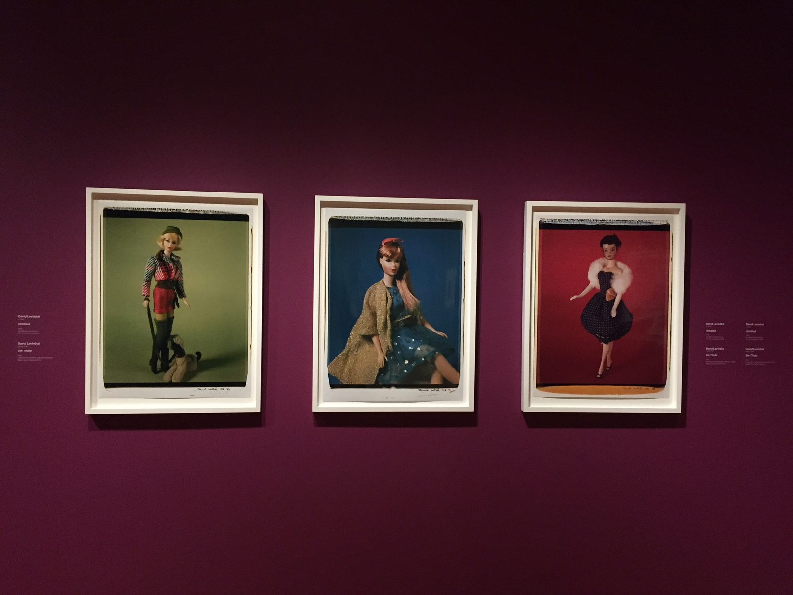 From David Levinthal: Barbie and Baseball - on view now through August 2019 at Crystal Bridges
