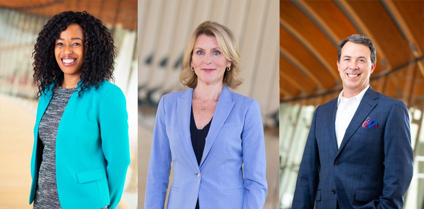 Left: Makele Ndessokia, Middle: Diane Carroll, Right: Clay Bakker