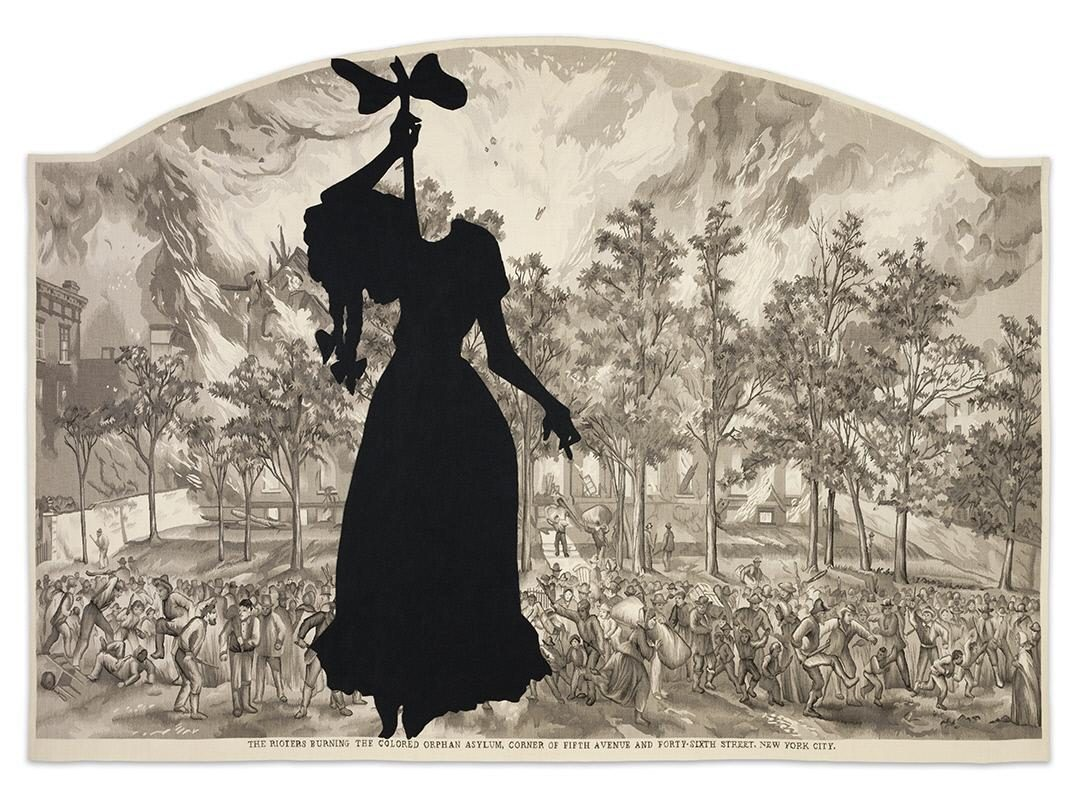 Kara Walker, A Warm Summer Evening in 1863. Crystal Bridges Museum of American Art, Bentonville, Arkansas. © Kara Walker. Photography by Edward C. Robison III.