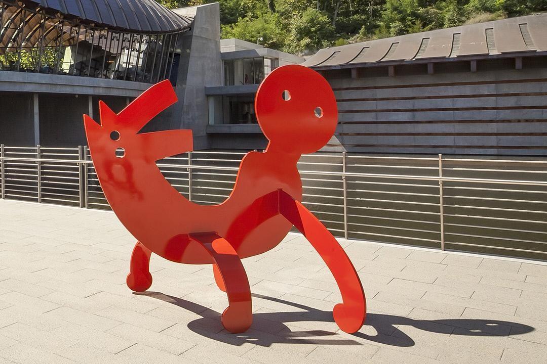 Two-Headed Figure by Keith Haring. On Walker Landing.