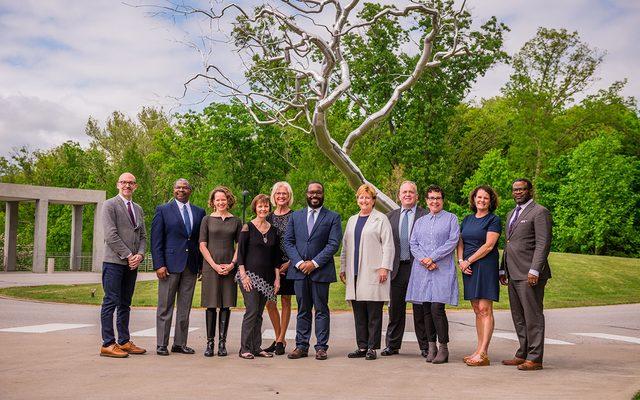 Crystal Bridges education staff with Windgate representatives