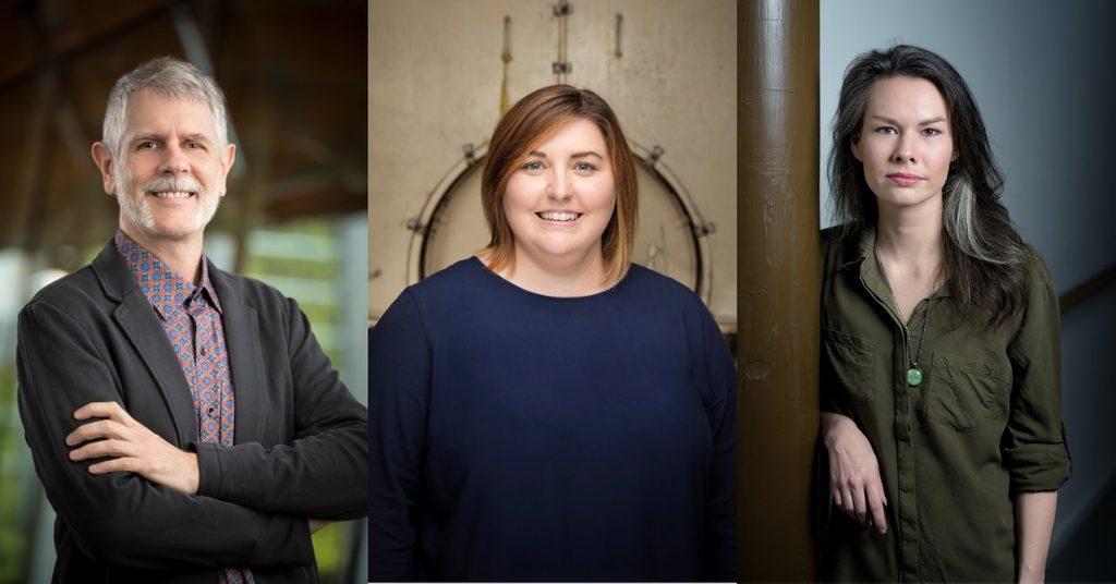 Left: Neal Johnson, Middle: Emily Neuman, Right: Erin Anson Ellis