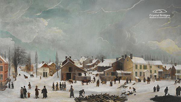 Winter Scene in Brooklyn (detail)* by Francis Guy