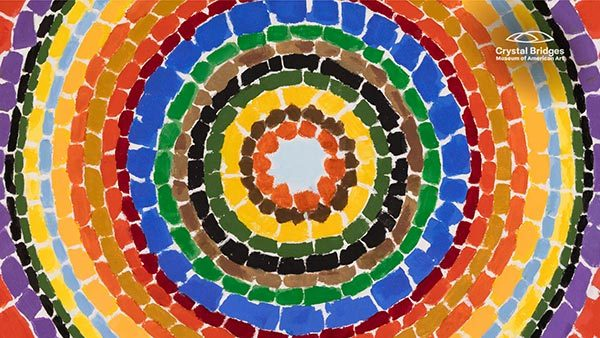 Lunar Rendezvous—Circle of Flowers (detail) by Alma Thomas